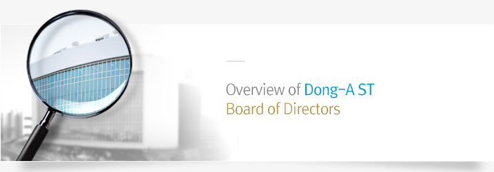 Overview of Dong-A ST Board of Directors